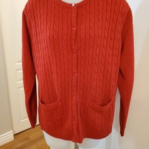 Alia Cableknit Mom Cardigan with Pockets Med Large